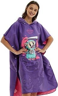 Adultos cambiando la Bata Little Devil Adult Can Wear Toalla de baño Secado rápido Albornoz Microfibra Toalla Natación Buceo, Surf para Mujeres/niñas (Color : Púrpura, tamaño : Un tamaño)