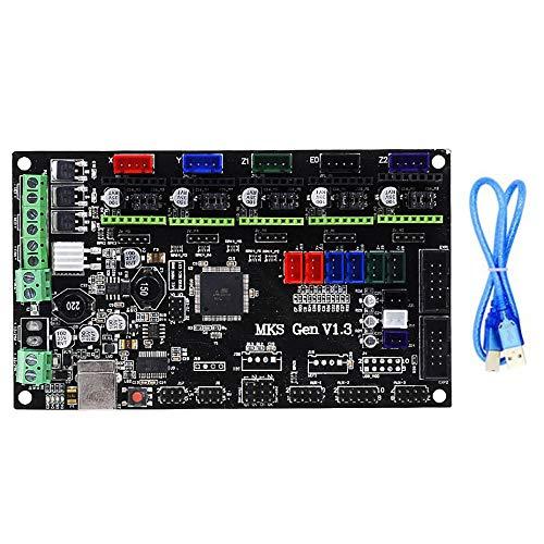Domilay Placa Base MKS Gen V1.3 Rampas1.4 MKS Gen V1.4 Unidad de ImpresióN 3D Control Exquisito Durable Mega2560