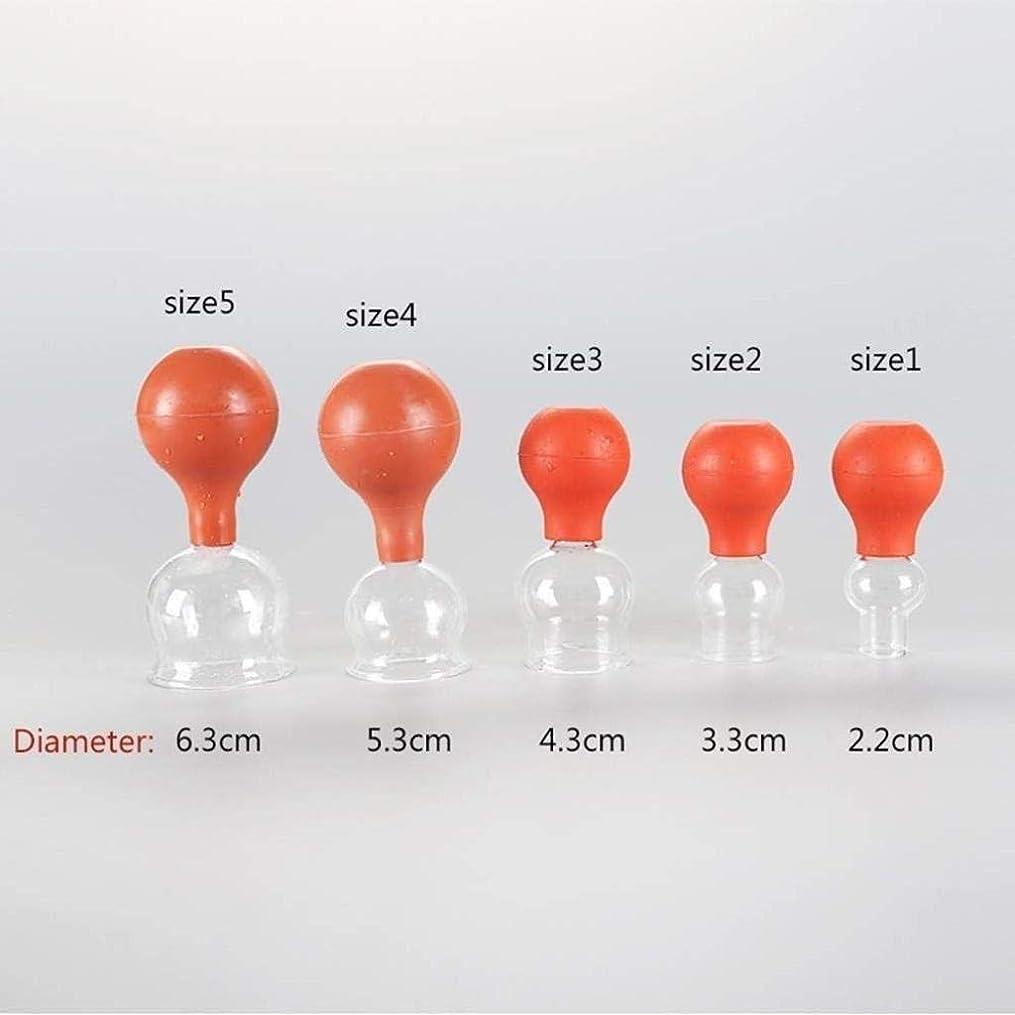 レンドハミングバードケントカッピングセラピーセット、真空吸引セルライトカッピングマッサージ、中国のカッピング療法のポンプのための5個のカップセット (Color : Brown)