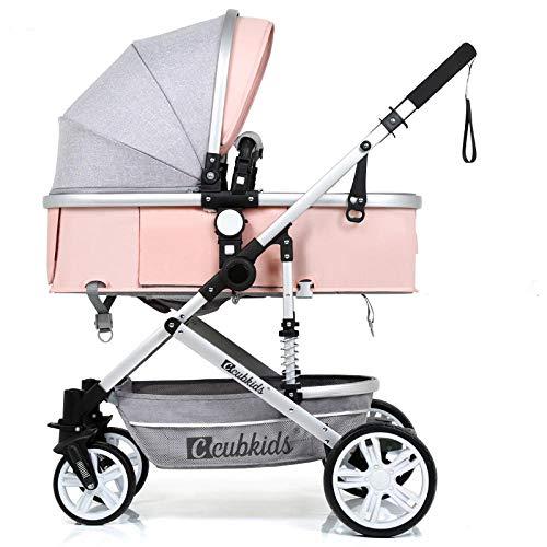 Golden Baby kinderwagen 2 in 1 kinderwagen roze
