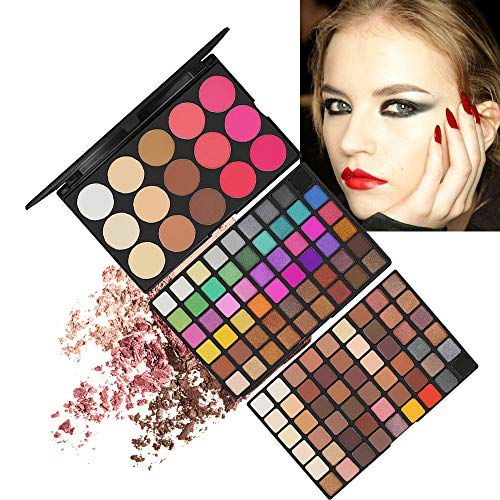 RoseFlower Schminkkoffer Beauty Case multifunktionale Make-up-Set Lidschatten-Palette Mehrfarbig Lidschatten Make Up Pallete Profi-Augenpalette multifunktionale Make-up-Set Satte Farben Kosmetik Kit