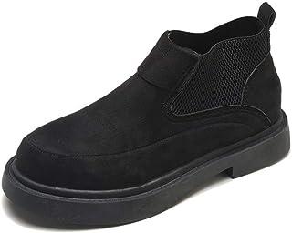 スエード サイドゴアブーツ レディース フラットシューズ 歩きやすい 白の靴 防滑 防水 防寒 黒 カジュアル靴 マーティンブーツ ショートブーツ スニーカー ランニングシューズ 弾性口 ブーティ ヴィンテージ