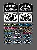 Set 20 Pegatinas Troy Lee Designs Pegatina Race Shop Moto Cross