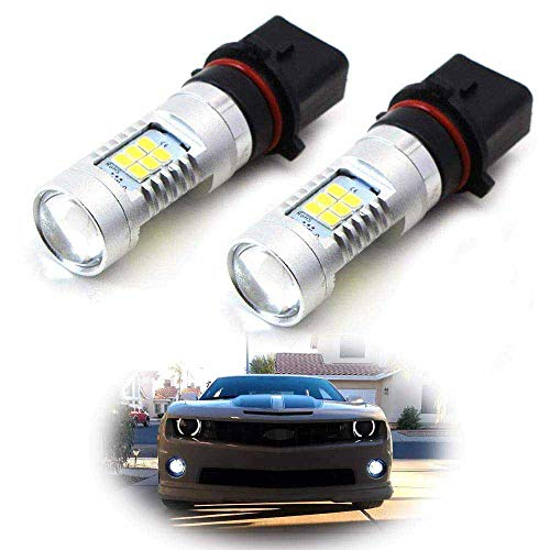 iJDMTOY 21-SMD-2835 P13W Replacement Bulbs Compatible With LED Fog Lights or Daytime Running Lights, Xenon White