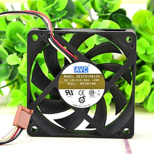 DE07015B12H 12V 0.50A 7CM 7015 3 -line CPU temperature control cooling fan