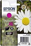 Epson Cartucho De Tinta Epson 18 Xl 6,6 Ml Magenta, XL válido para EPSON Expression Home XP-425 / XP-422 / XP-415 / XP-412 / XP-325 / XP-322 / XP-315 / XP-312 / XP-225 / XP-215 / XP-212 / XP-405WH / XP-405 / XP-402 / XP-305 / XP-302 / XP-30 / XP-205 / XP-202 / XP-102