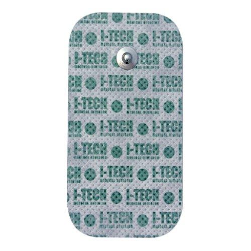 IACER I-TECH - 4 electrodos 50x90mm - Conexión de botón