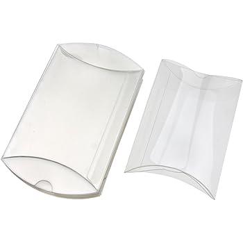 50 PCS Bo/îte pvc transparent 6X6X3 cm sachets /à drag/ées pour BONBONNI/ÈRE
