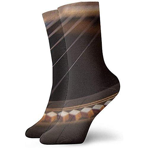 Kevin-Shop Gitaar akkoorden enkel sokken Casual Gezellige bemanning sokken voor mannen, vrouwen, kinderen