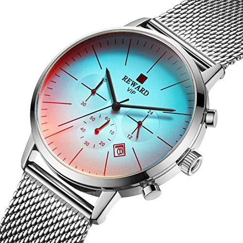 K-Park Reloj de cuarzo Reloj impermeable minimalista ultrafino con correa de malla Oro Concha Oro Concha rosa Azul Concha negra Negra Concha blanca Blanca smart
