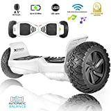 XPRIT 8.5' Wheel Hoverboard w/Wireless Speaker - All Terrain (White)