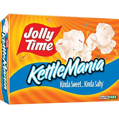 Great Price! Jolly Time KettleMania Microwave Kettle Corn - Sweet & Salty Gourmet Popcorn, 3-Count B...
