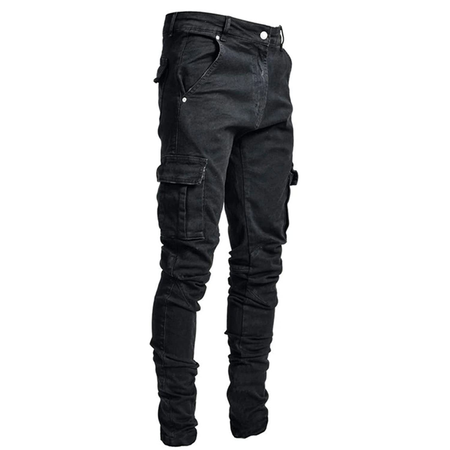 Clearance SALE! Limited time! Mens Slim Fit Pockets Stretch Gifts Skinny But Pant Pants Cotton Cargo
