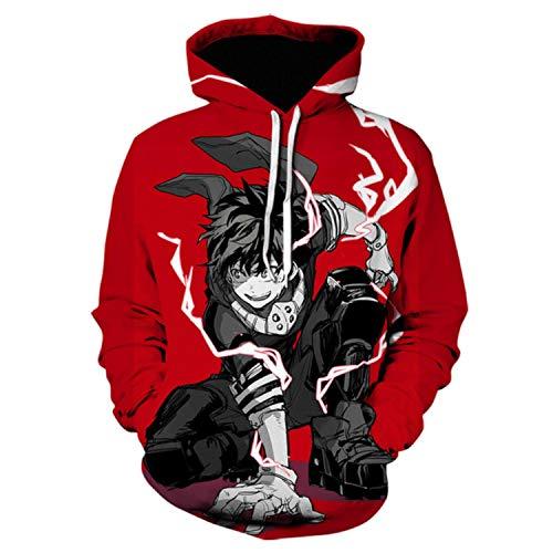 Einson 3D Printed My Hero Academia Hoodie Men Women No Hero Academia all Might Cosplay Kostüm Sweatshirt School Uniform Anime Jackets XL