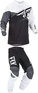 Fly Racing 2019 F-16 Jersey and Pants Combo Black/White/Gray M,32