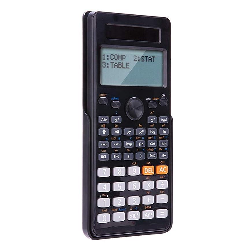 権利を与えるフィクションリサイクルする大画面電卓 二重線の大画面の表示科学計算機二重力機能計算機(小さい中学校のために)白黒 標準 (Color : Black)