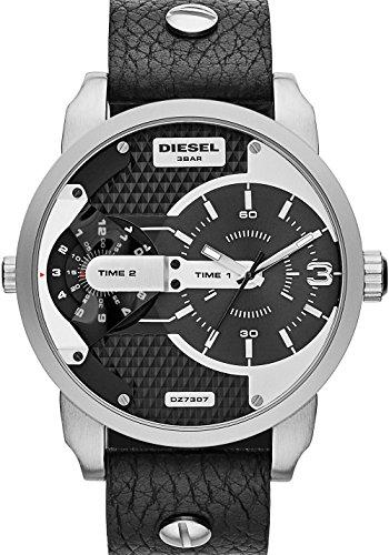 Diesel Herren Analog Quarz Uhr mit Leder Armband DZ7307