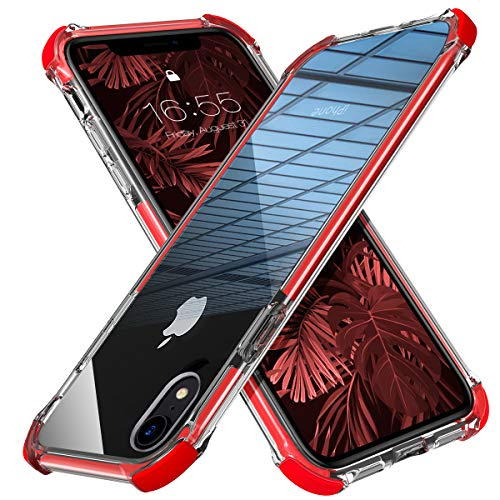 MATEPROX iPhone XR Case Clear Anti-Yellow Heavy Duty Bumper Protective Shockproof Case for iPhone XR 6.1