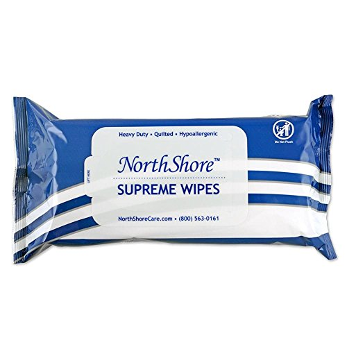 NorthShore Supreme Heavy-Duty Quilted Wipes, X-Large, Case/300 (6/50s)