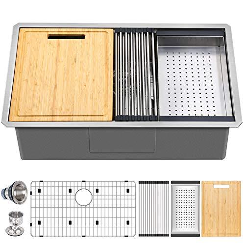 Hykolity 33-inch Workstation Undermount Sink