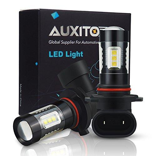 AUXITO H10 9140 9145 LED Fog Light Bulbs 1800 Lumens Bright 6500K White Replace for Fog Light or DRL, Pack of 2