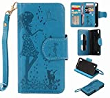 Yiizy LG X Power K220DS K220 Coque Etui, Fille Gaufrage Design Flip PU Cuir Cover Couverture...