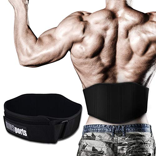 Weight Lifting Belts for Men & Women - Powerlifting Belts with Buckle for Deadlifts, Squats & Lifting (Black, XS)