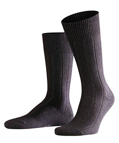 FALKE Herren Socken Lhasa Rib - Merinowoll-/Kaschmirmischung, 1 Paar, Grau (Anthracite Melange 3080), Größe: 43-46