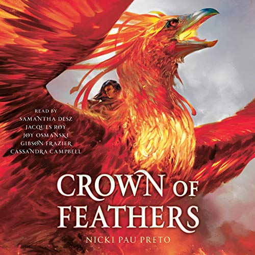Crown of Feathers                   Auteur(s):                                                                                                                                 Nicki Pau Preto                               Narrateur(s):                                                                                                                                 Samantha Desz,                                                                                        Jacques Roy,                                                                                        Joy Osmanski,                   Autres                 Durée: 17 h et 20 min     3 évaluations     Au global 5,0