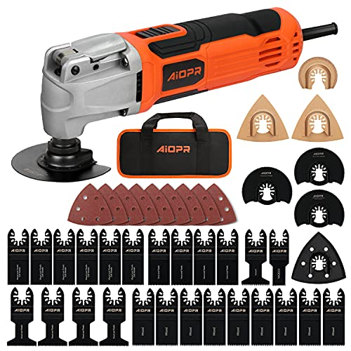 AIOPR Oscillating Multi-Tool Kit, Variable Speed w/ 40pcs Accessories (86225-1)