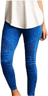 neveraway Women Stretch Skinny Fashionable Regular Long Pants Jeggings
