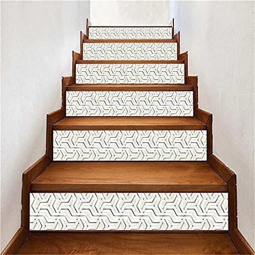 Adhesivo para escalera de madera de grano de piedra, autoadhesivo, impermeable, para escaleras, para el hogar, pasillo, renueve escaleras DIY, LT233_100x18cmx13pcs