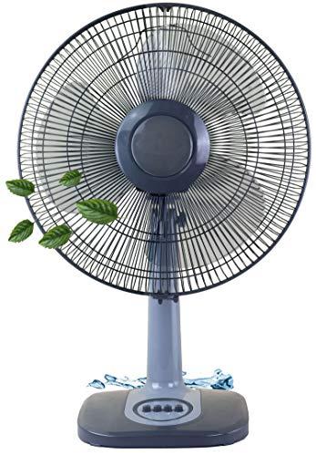 Tischventilator Ø42 cm 45 Watt   Ventilator   Rotation zuschaltbar   3 Stufen   Oszillierend   Leiser Betrieb   Luftkühler   Windmaschine   geeignet für Büro, Schlafzimmer, Wohnzimmer  