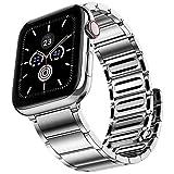 JUVEL Kompatibel mit Apple Watch Armband 38mm 40mm 42mm 44mm, Starkes Magnetisches Edelstahl Metall...