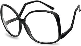 Oversize Vintage 1980's The Golden Girls Inspired Black Clear Lens Eye Glasses