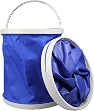 LJBH Collapsible Camping Fishing Bucket, Compact Portable Folding Water Container, Great for Hiking, Travel Safe and envir...