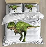 XZBLCMWYBYYYQ Majungasaurus was a Carnivorous theropod Dinosaur That Lived in Comfy Simple - Bedding Duvet Cover - with Pillowcases Stereoscopic Print Bedding Sets for Kids Comforter-Queen Size