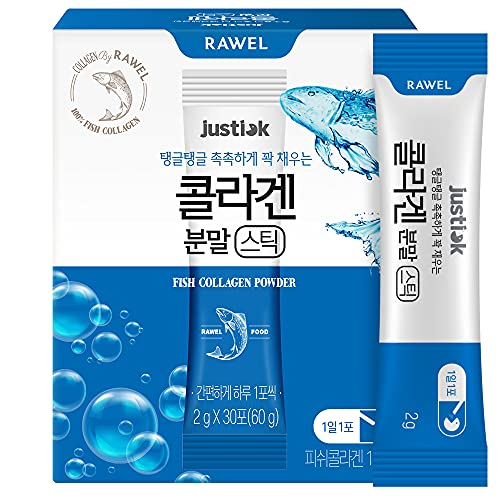 Rawel Korea Beauty Anti-ageing Whitening Fish Collagen Stick Powder (2g*30pack)