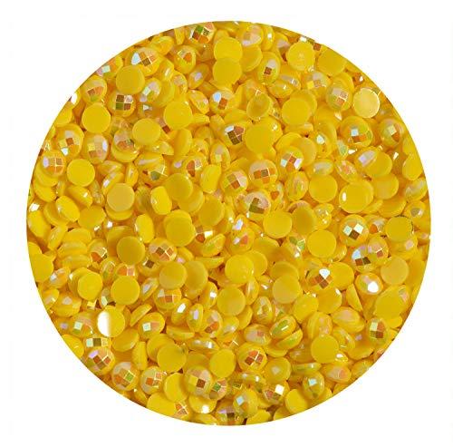 Pracht Creatives Hobby DDH-5005 - Diamond Dotz Freestyle Steinchen in yellow AB, 12 g, je 2,8 mm groß, funkelnde Diamanten zum Gestalten von kreativen Diamond Dotz Designs
