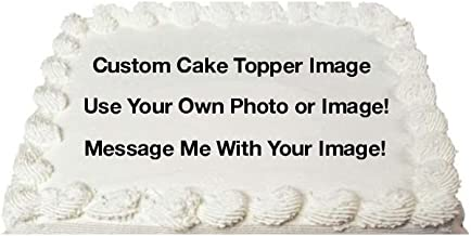 Create Your Own Custom Edible Cake Topper Photo Cake Frosting Icing Topper Sheet Personalized Custom Customized Birthday Party - 1/4 Sheet