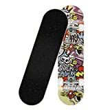 QuXiaoMo Skateboard Longboard 8 Strati Deck 31,5 'x7,87' Skate Completo Professionale a 4 Ruote Longboard in Legno di Acero per Adolescenti Adulti Principianti Ragazze Ragazzi Bambini