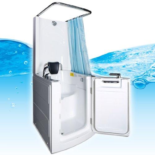 Senioren Dusche Sitzbadewanne Sitzwanne Duschbadewanne mit Tür Pool A110D