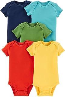 Carter's Baby Boys 5-Pack Short-Sleeve Original Bodysuits (Solids)