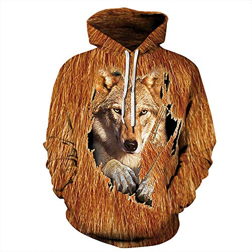 xiaozhou Novelty 3D Print Hoodies,Sweatshirt Hooded Pullover Long Sleeve with Pockets, Casual Loose Couple Hoodie-Qyxh232_XXXXXL