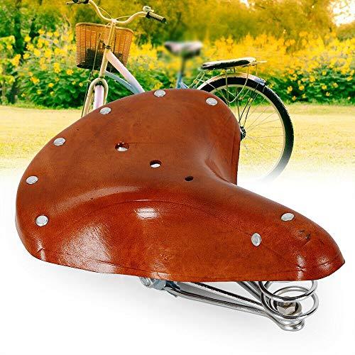 Sättel - Sella da bicicletta da uomo, in pelle bovina, in vera pelle, con molle
