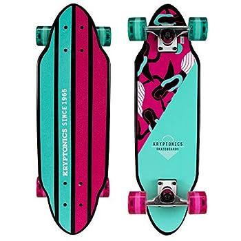 Kryptonics Mini Cutaway Cruiser 26  Complete Skateboard Mermaids