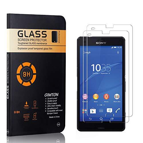 GIMTON Displayschutzfolie für Sony Xperia Z3 Compact, 9H Härte, Blasenfrei, Anti Öl, Ultra Dünn Kratzfest Schutzfolie aus Gehärtetem Glas für Sony Xperia Z3 Compact, 2 Stück
