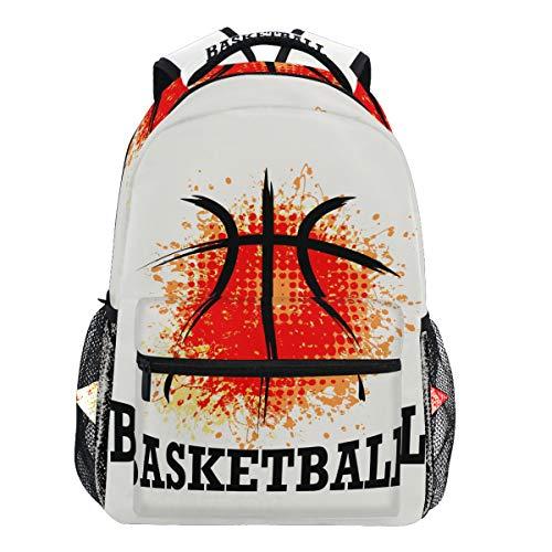 Oarencol Fashion Coole Basketball Aquarell Rucksäcke Bookbags Daypack Travel School College Bag für Frauen Mädchen Herren Jungen Teens