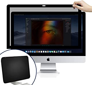 BERSEM iMac 21.5 inch Monitor Privacy Screen for Apple Desktop Computer, Fully Removable Privacy Screen Protector Filter Anti-Glare Anti-Scratch UV-Blocking Privacy Screen Protector 16:9 Ratio