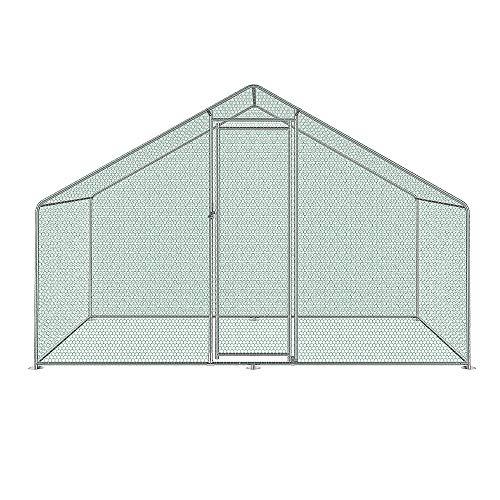 JunY - Pollaio con serratura, per esterni, per pollame e pollame, zincato, tetto rivestito in PVC,...
